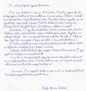 Ruff István Zalán 10 éves, Dunaföldvár, A Bacilustáltos versike